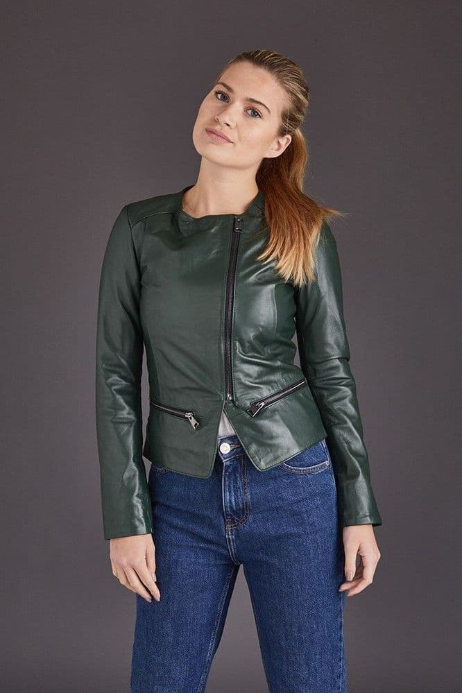 Green Leather Jackets:Chenel